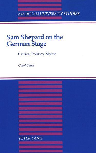 Sam Shepard on the German Stage - Coverbild