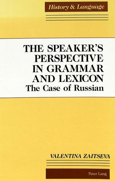 The Speaker's Perspective in Grammar and Lexicon - Coverbild