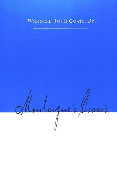 Montaigne's Essais - Coverbild