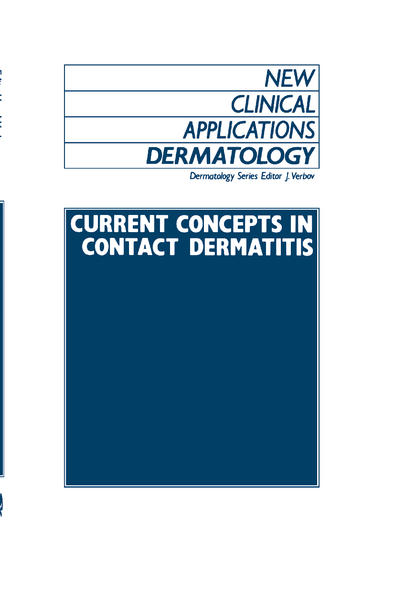 Current Concepts in Contact Dermatitis - Coverbild