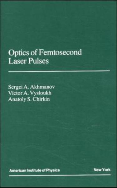Optics of Femtosecond Laser Pulses - Coverbild
