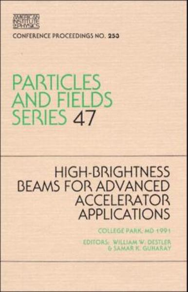 High-Brightness Beams for Advanced Accelerator Applications - Coverbild
