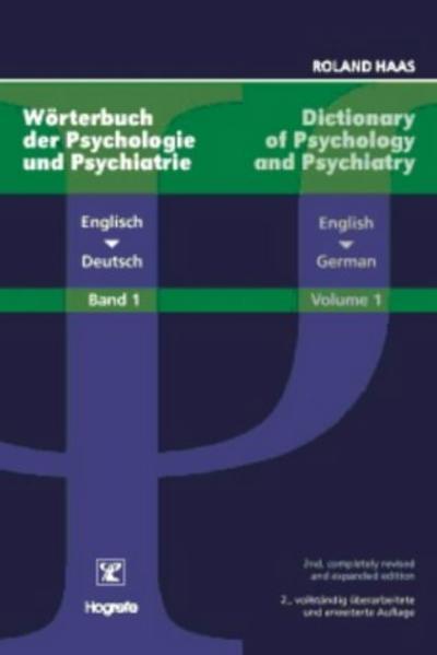 Dictionary of Psychology and Psychiatry /Wörterbuch der Psychologie... - Coverbild