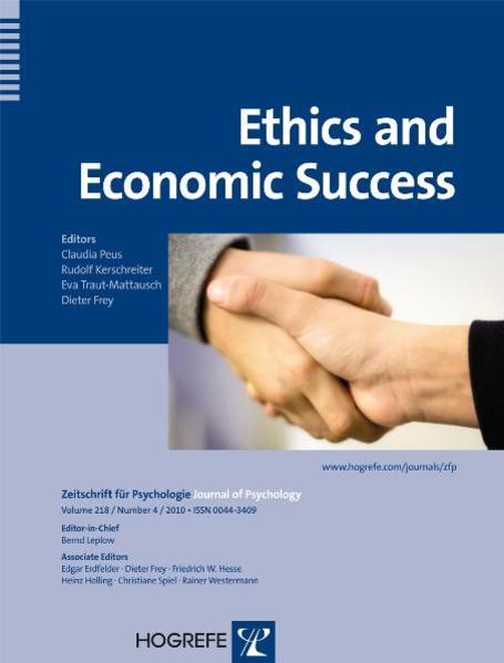 Ethics and Economic Success - Coverbild