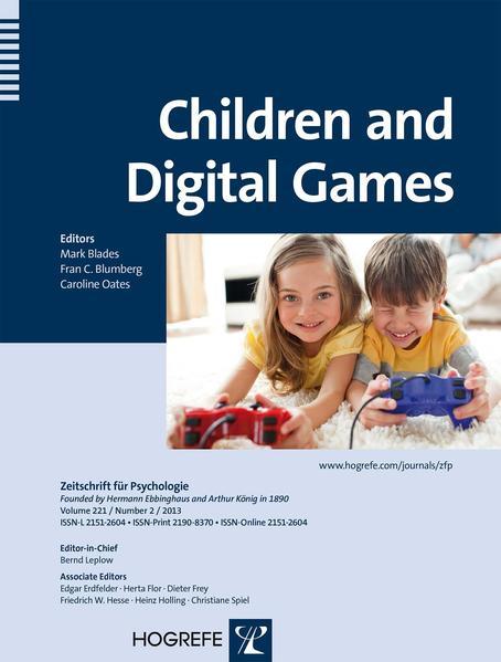 Children and Digital Games - Coverbild