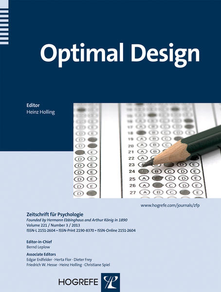 Optimal Design - Coverbild