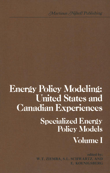 Energy Policy Modeling: United States and Canadian Experiences - Coverbild