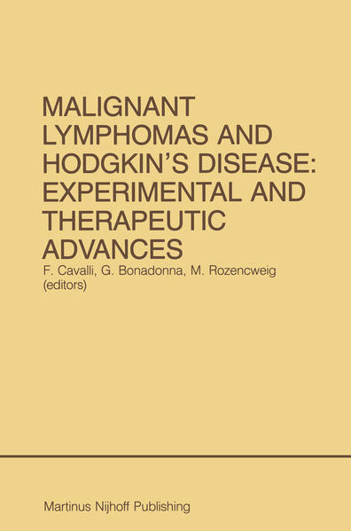 Malignant Lymphomas and Hodgkin's Disease: Experimental and Therapeutic Advances - Coverbild