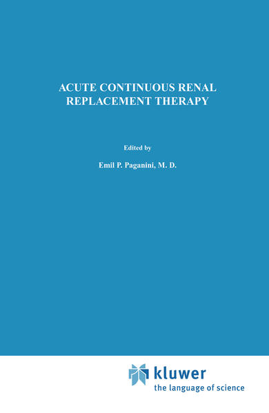 Acute Continuous Renal Replacement Therapy - Coverbild