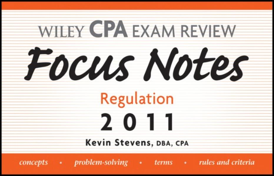Wiley CPA Examination Review Focus Notes - Coverbild