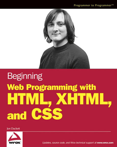 Beginning Web Programming with HTML, XHTML, and CSS - Coverbild