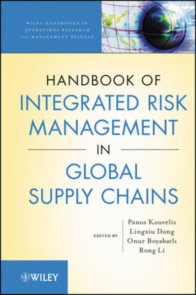 Handbook of Integrated Risk Management in Global Supply Chains - Coverbild