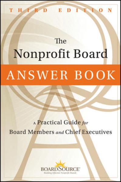 The Nonprofit Board Answer Book - Coverbild