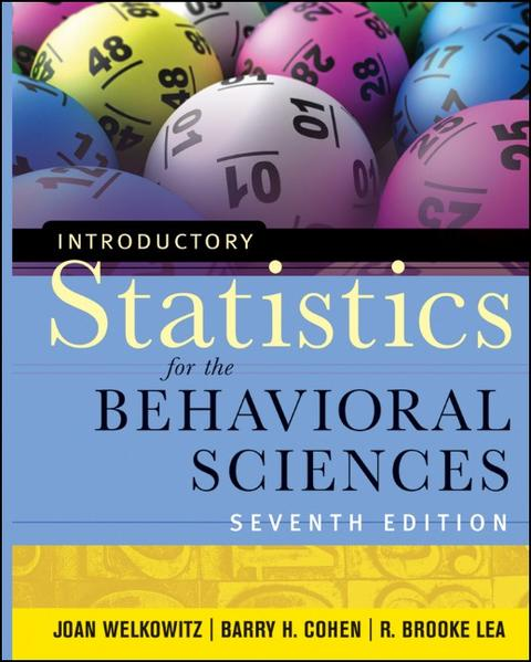 Introductory Statistics for the Behavioral Sciences - Coverbild