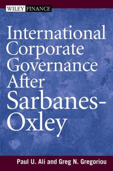 International Corporate Governance After Sarbanes-Oxley - Coverbild