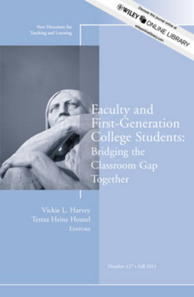 Faculty and First-Generation College Students - Coverbild