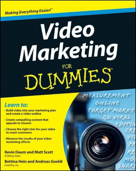 Video Marketing For Dummies - Coverbild