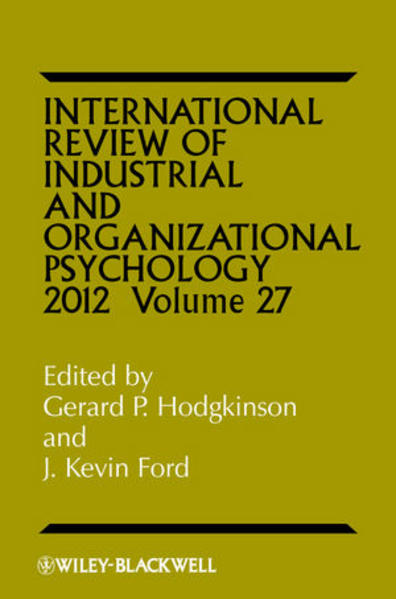 International Review of Industrial and Organizational Psychology, 2012  Volume 27 - Coverbild