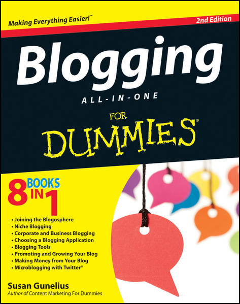 Blogging All-in-One For Dummies - Coverbild
