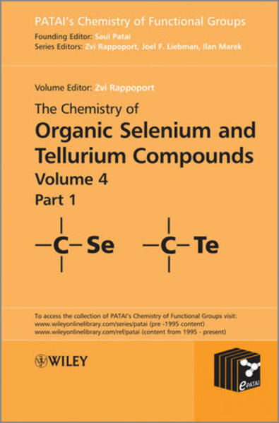 The Chemistry of Organic Selenium and Tellurium Compounds - Coverbild