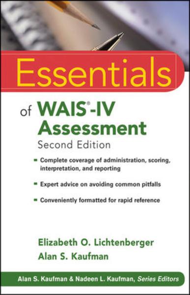 Essentials of WAIS-IV Assessment - Coverbild