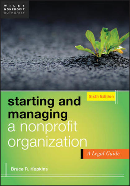 Starting and Managing a Nonprofit Organization - Coverbild