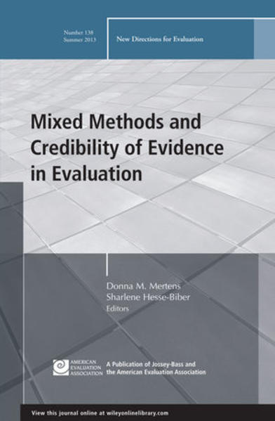 Mixed Methods and Credibility of Evidence in Evaluation - Coverbild