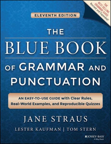 The Blue Book of Grammar and Punctuation - Coverbild
