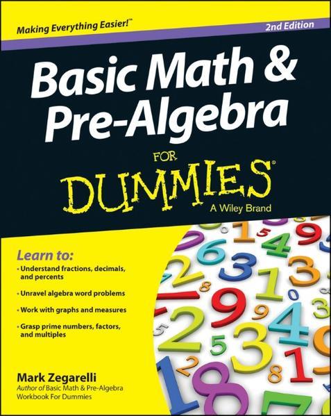 Basic Math and Pre-Algebra For Dummies - Coverbild