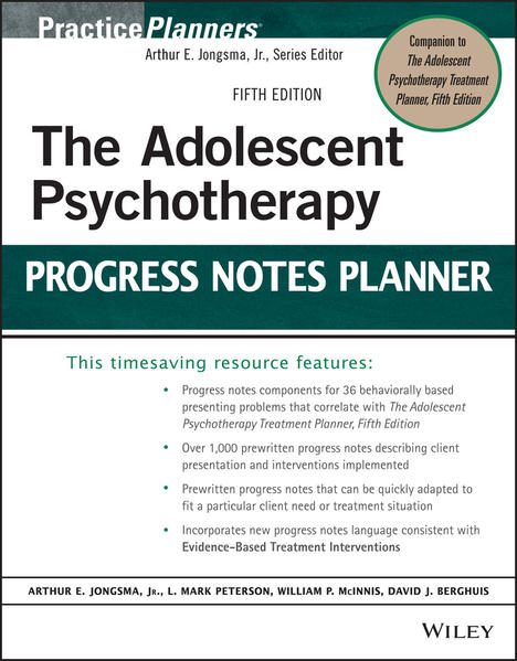 The Adolescent Psychotherapy Progress Notes Planner - Coverbild