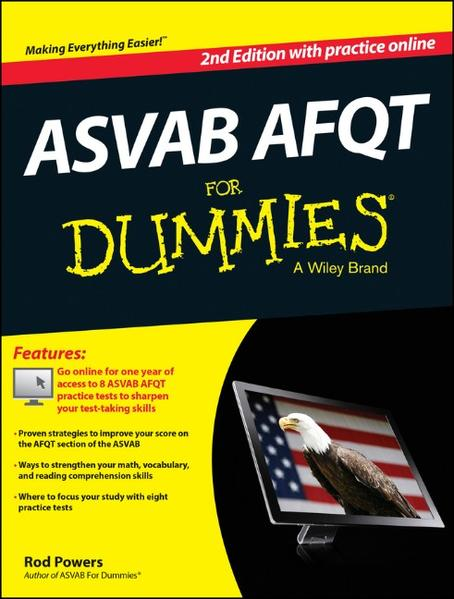 ASVAB AFQT For Dummies, with Online Practice Tests - Coverbild