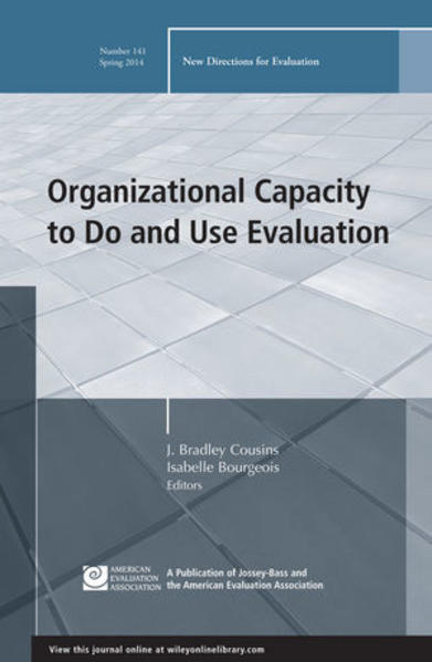 Organizational Capacity to Do and Use Evaluation - Coverbild