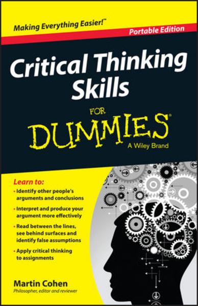 Critical Thinking Skills For Dummies - Coverbild