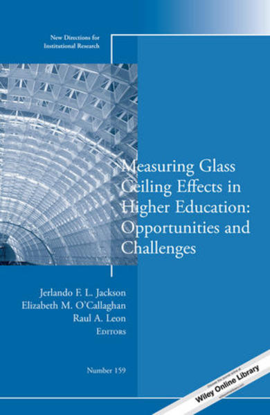 Measuring Glass Ceiling Effects in Higher Education - Coverbild