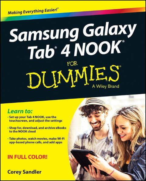 Samsung Galaxy Tab 4 NOOK For Dummies - Coverbild