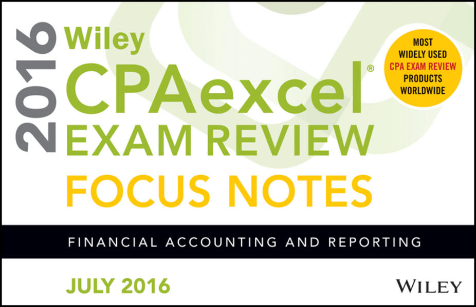 Wiley CPAexcel Exam Review July 2016 Focus Notes - Coverbild