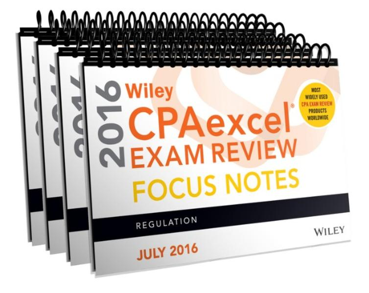 Wiley CPAexcel Exam Review July 2016 Focus Notes: Set - Coverbild