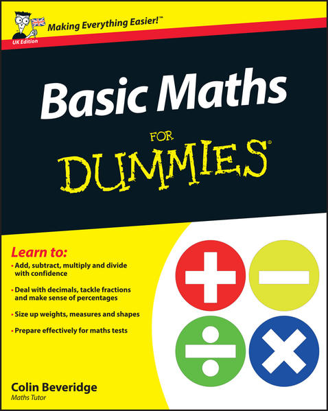 Basic Maths For Dummies, UK Edition - Coverbild
