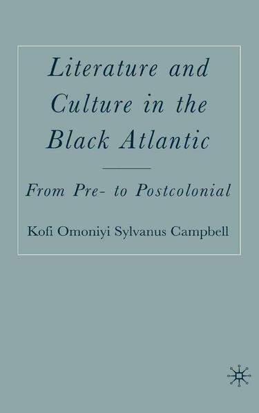 Literature and Culture in the Black Atlantic - Coverbild