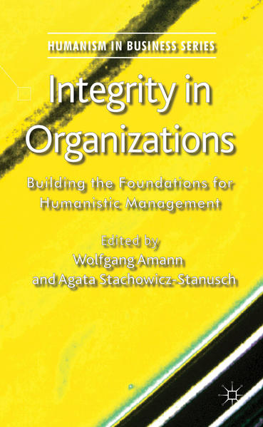 Integrity in Organizations - Coverbild