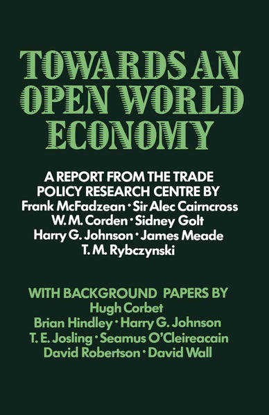 Towards an Open World Economy - Coverbild