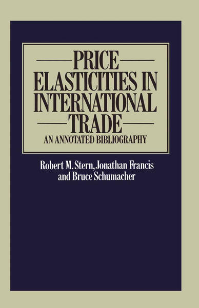 Price Elasticities in International Trade - Coverbild
