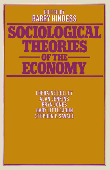 Sociological Theories of the Economy - Coverbild