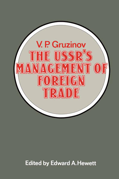 The USSR's Management of Foreign Trade - Coverbild