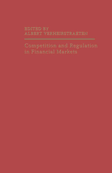 Competition and Regulation in Financial Markets - Coverbild