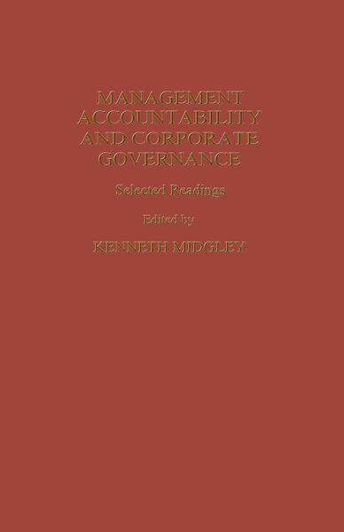 Management Accountability and Corporate Governance - Coverbild