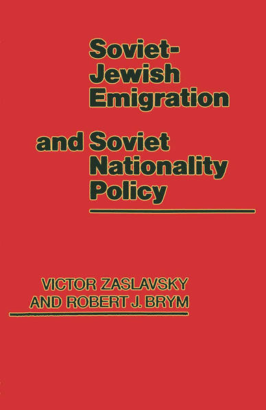 Soviet-Jewish Emigration and Soviet Nationality Policy - Coverbild