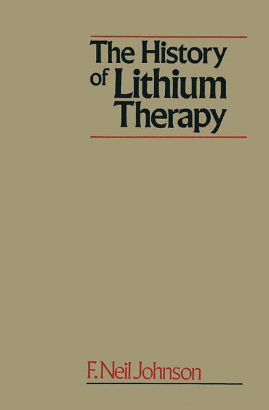 The History of Lithium Therapy - Coverbild