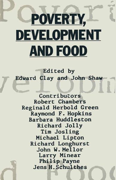 Poverty, Development and Food - Coverbild