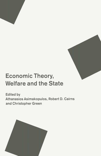 Economic Theory, Welfare and the State - Coverbild